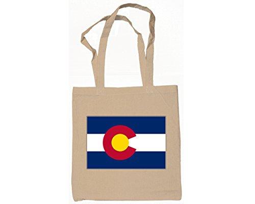 8 Colorado State Flag Tote Bags-Natural