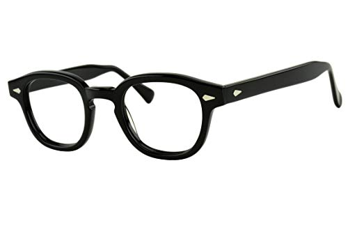 Verona Love Non Prescription Eyeglasses Frame High End Fashion Eye Wear Clear Vintage Style Glasses Frames For Men and Women VLV46 C001 (90er Brillen Frames)