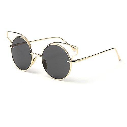 des de 6 Metallic Couleur Découpe Reflective Round Cat Lunettes Retro Color de 4 Soleil Eye Lunettes Sunglasses Lunettes Film Soleil Lunettes rqwxB7Rtr