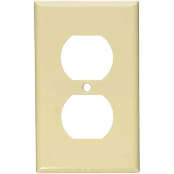 Leviton 86003 1 Gang Duplex Device Receptacle Wallplate Standard Size Thermoset Device Mount Ivory Accent Any Wall Covering With A Wide Selection Of Colors And Finishes Smooth Face And 1234come Com