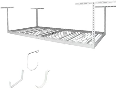 MonsterRax 4×8 Overhead Rack White, 12 -21 2-Pack