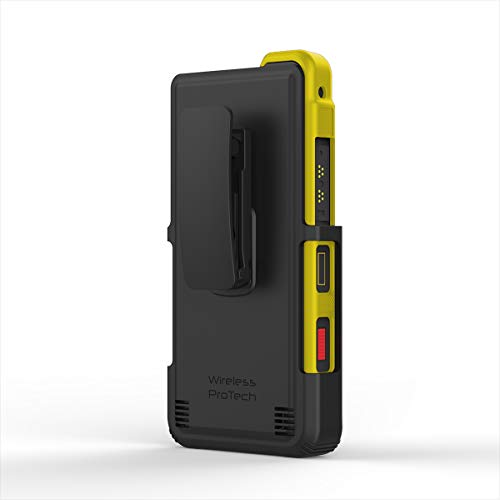 Sonim Xp8 Holster with Swivel Belt Clip and TPU Shell Combo by Wireless ProTECH (Yellow)