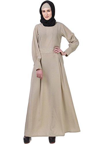 burqa formale e musulmano maxi vestito casual AY 611 MyBatua grigio abaya jilbab n5pXgIq
