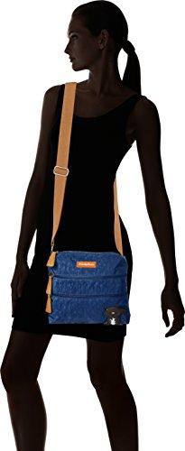 SwankySwans - Riley Cat Designer, Borsa a tracolla Donna Blue (Dark Blue)
