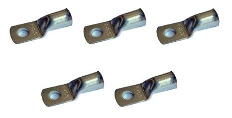 5 pcs Ossian estañado Cable de Batería de cobre Soldadura Lug Conector Terminal para 6 calibre ...