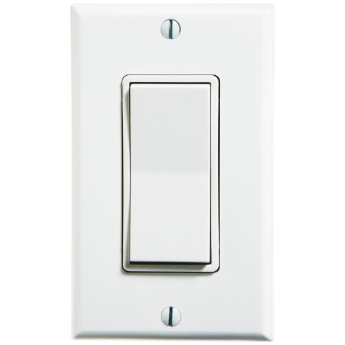 Leviton WSS0S-D0W 1-Gang Single Rocker Decora Switch, (Motor Saver)