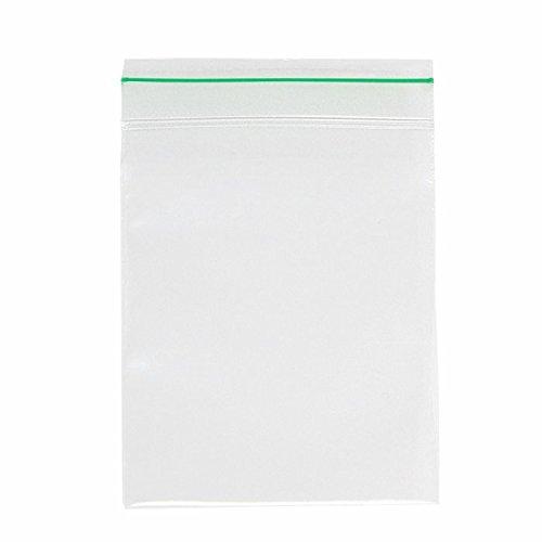 (Minigrip GreenLine MGBD2P0406 Polyethylene (LDPE Blend) Clear Reclosable Bag, 4