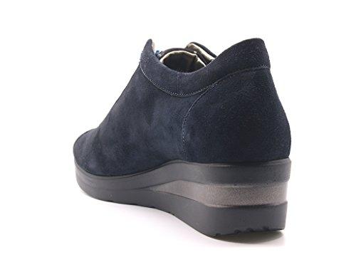 para suela de mujer integrada stringate Melluso turquesa con zeppa caucho Zapatillas H4YqE