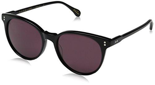 Raen Women's Norie Round Sunglasses, Black, 53 - Glasses Lens Zeiss Carl