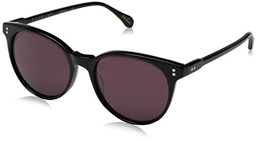 Raen Women's Norie Round Sunglasses, Black, 53 - Carl Zeiss Sunglasses