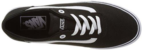 Vans Wm Milton, Zapatillas para Mujer Negro (Canvas Black/white)