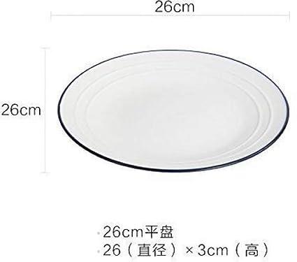 Bezigeorey Fisch Für Haushalt Keramik Große Ovale Gedünsteter Fisch Platten, Fischgericht