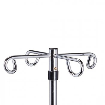 IV Pole - Economy Twist-Lock - X Base w/ 4 Hooks - CL-IV-404
