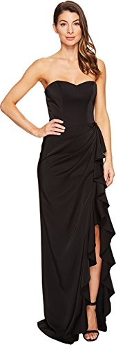 Dress Faviana Black (Faviana Women's Faille Satin Strapless w/ Cascade 7950 Black Dress)