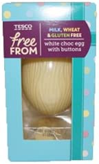 Tesco Free From White Chocolate Egg With Buttons 65g Amazon