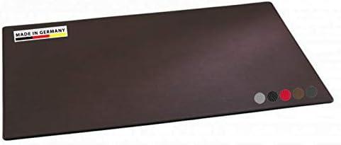 Handmade in Germany excl. Schreibunterlage-Leder-dunkelbraun, Schreibtischunterlage feingenarbtes Rindnappaleder, erhältlich in 5 Farben, excl. Marke EuroStyle