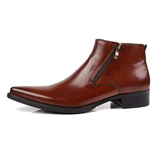 Scarpe Britanniche Pointed Fashion Business Scarpe Alte Versione Europea Cowboy Martin Boots Brown