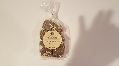 Milk Chocolate Butter Almond Toffee - Abdallah Chocolates Milk Chocolate Butter Almond Toffee 7 oz. Bag