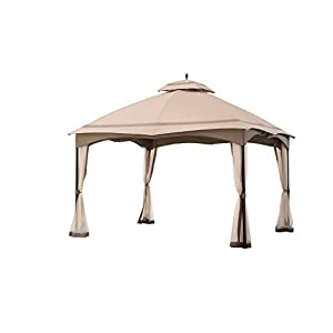 sunjoy 12' x 10' Cabin-Style Soft Top Gazebo with Mosquito Netting