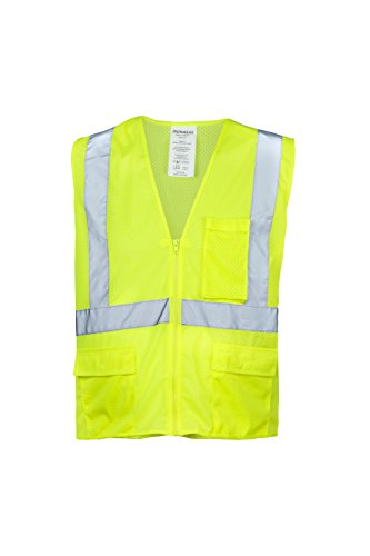 (Ironwear 1284FR-L-3-LG ANSI Class 2 Flame Retardant Polyester Mesh Safety Vest with 2