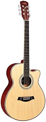 初心者 入門ギター マットウッド色の新しい初心者アコースティックギター40インチ栃木フォーク・バレエ 小学生 大人用 (Color : Natural, Size : 40 inches)