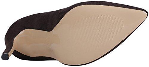 Calaier Shoes Slip Stiletto B on Pumps Womens Caeverybody Pointed Toe Brown 10CM RwxqrR47U