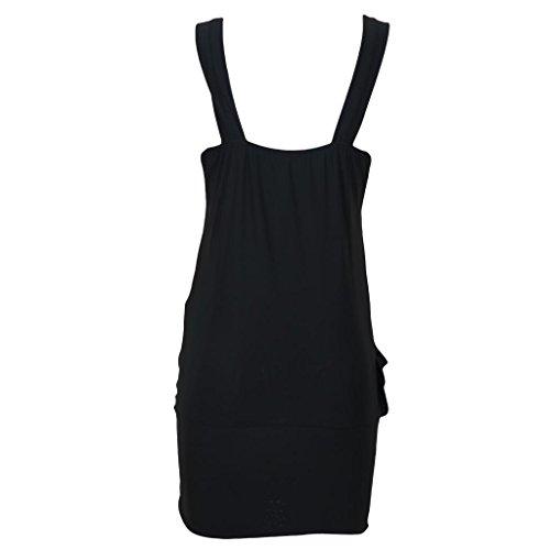 femme Noir Mini Broche pour Robe Noir femme pour 20 8 fte Drape Sexy robe haut de AB6qFt6w