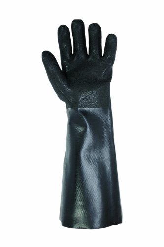 Latex Gauntlet Gloves (CLC Custom Leathercraft 2084L PVC Gloves with 18-Inch Gauntlet Cuff, One Size)