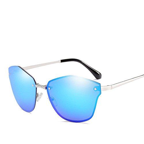 Aoligei L'Europe et la mode aux États-Unis métal hommes et femmes lunettes de soleil sans riz de film frame lunettes de soleil couleur ongles Decorat Lunettes de soleil Ive 1BVB29k