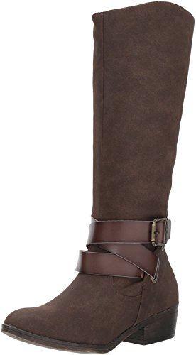 Blowfish Women's Sharpshooter Boot, Chocolate Sport Suede/Dyecut, 9 M (Ladies Brown Suede Boots)