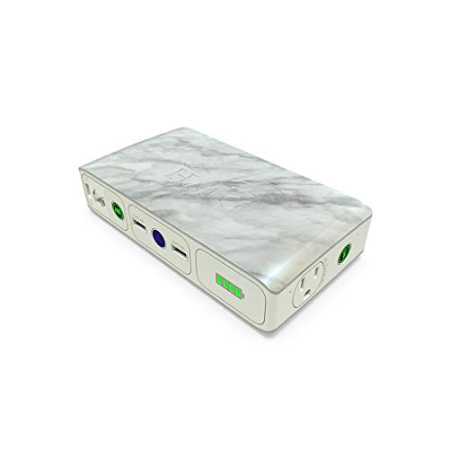 HALO Bolt Wireless 44400 mWh Portable Phone Laptop Charger Car Jump Starter with AC Outlet, White Marble