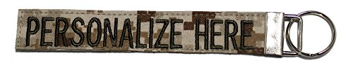 Personalized Military Name Tapes Logo Key Chain/LUGGAGE and/or CRATE tags, Desert Digital, 6