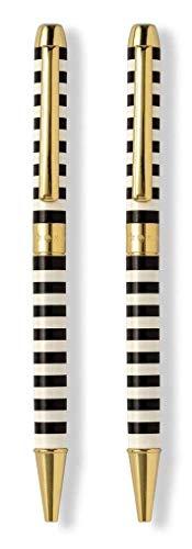 Kate Spade New York Pen And Pencil Set, Black Stripe