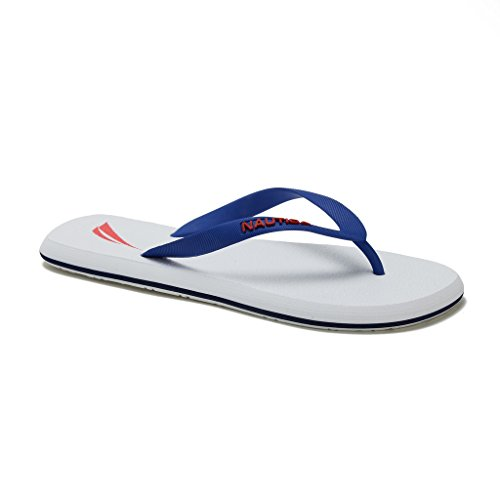 Flip Rubber Del White Boat Sandal Nautica Ray Beach Thong Men's Slide Flop 1BXqf