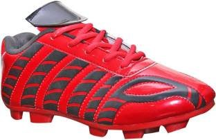b901b1e30fe5 ARYANS Unisex Sports PU Soccer Red Football Shoes  Buy Online at Low ...