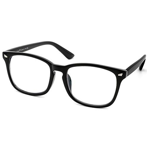 Cyxus Customized Prescription Glasses Myopia Astigmatism Oversize Frame for Men Women (Customized Prescription Glasses) ()