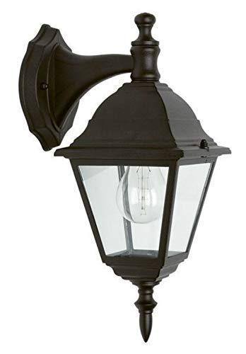 Brilliant Newport buitenwandlamp hangend regenbestendig zwart, 1x E27 geschikt voor normale lampen tot max. 60W