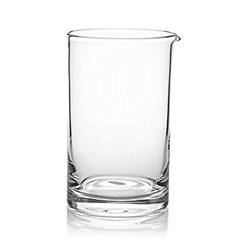 Extra Large Cocktail Mixing Glass/Bar Mixing Glass 750ml / 25oz. - Clear, Seamless & Handblown - Japanese Style [Lead Free]