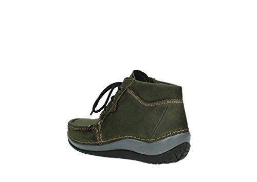 Comfort Chaussures Cuir Wolky Vert Lacets À Sensation 11732 dqx5Bx