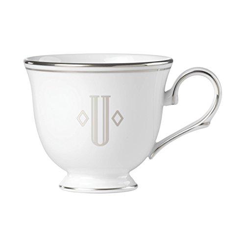 (Lenox Federal Platinum Block Monogram Dinnerware Teacup, U)
