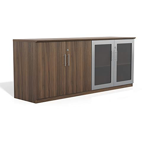 Safco Products MVLCTBS Medina Cabinet, Textured Brown Sugar