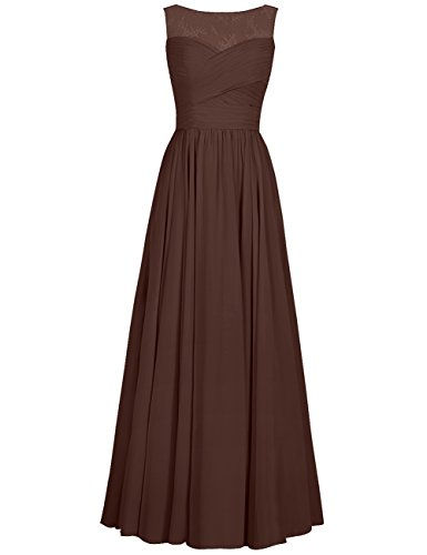 Applique Gowns Prom Evening Dresses Bridesmaid Cdress Flora Chiffon Chocolate Women Formal Dress Long s WqwWa06R4