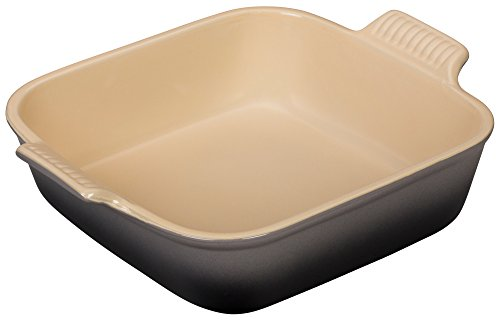 Le Creuset Heritage Stoneware 9'' Square  Dish, Oyster by Le Creuset