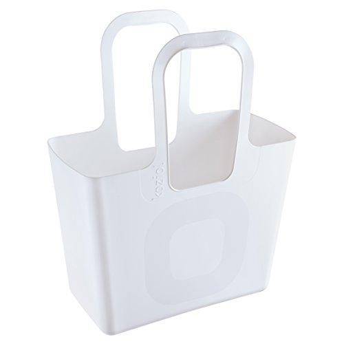 Koziol 5414525 Tasche Xl Shopping Tote Bag, Cotton White
