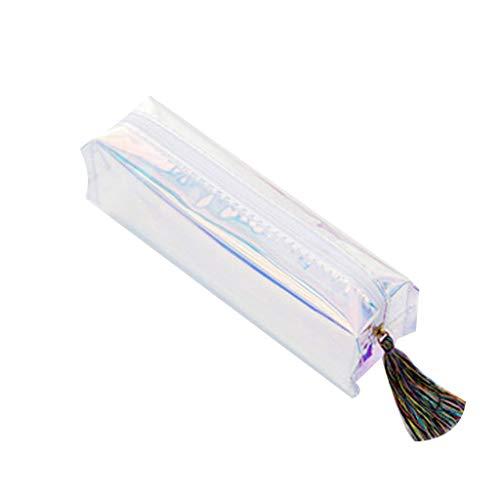 Gotian Creative Cool Fashion Transparent Sequins Bag Large Capacity Waterproof Convenient Durable Cosmetic Bag Pencil Case Cute Pen Storage Bags (C)]()
