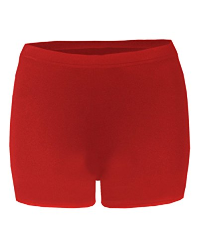 """Badger Sport Red Girls Small Compression 2"""" Inseam Shorts"""