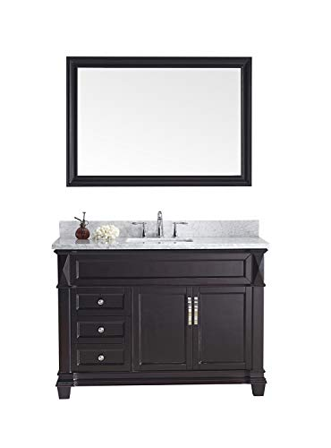 Virtu USA MS-2648-WMSQ-ES Victoria Transitional Single Sink Bathroom Vanity Set, 48 inches, Dark Espresso