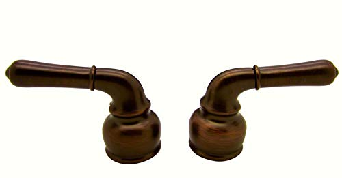 (DF-RKCM-ORB - Metal Classical Lever RV Faucet Replacement Handles - Oil Rubbed Bronze Finish - One Pair Hot/Cold - For Dura Faucet Branded Faucets Only)