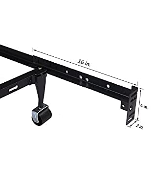 Kings Brand Furniture Bed Frame Footboard Extension Brackets Set Attachment Kit - Twin/Full/Queen/King by Kings Brand Furniture