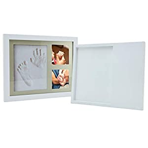Baby Handprint Kit Picture Frame, Baby Footprint kit Perfect for Newborn Boys and Girls, Baby Shower Registry Gifts, Great Baby Keepsake.